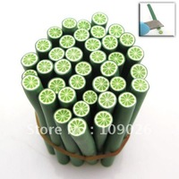 500cane Green Nail Art Polymer Clay Cane Stick Free Shipping