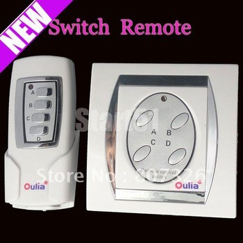 New 4 Port Digital Wireless Remote Control Wall Switch