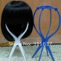 Wholesale 20pcs/lot Top Quality Wigs Stand/Holder Multicolor Portable Folding Support Display Mix Order Free shipping