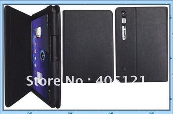 free shipping  Leather Case for Motorola xoom Tablet 10.1 Black .wholesale