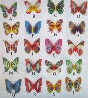 100pcs vivid butterfly fridge magnet note holder home decor small size wholesale free ship