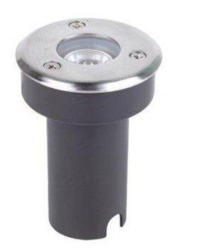 1w high power led underground light,DC12V input,IP68,DIA65*80mm;open hole:60mm