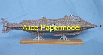 [Alice papermodel] Long 70CM 20000 Leagues Under the Sea Nautilus submarine U-boat warship military models