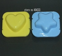 STAR/HEART BOILED EGG MOLD 2PCS/set