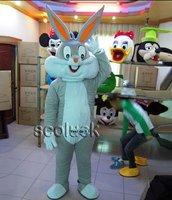 SO Good!! Free Shipping Cosplay Rabbit Bugs Bunny Mascot Costume