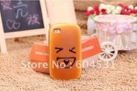 Bread Hamburger Style PU Soft Case Cover for iPhone 4  cases for iPhone 4  DHL free shipping