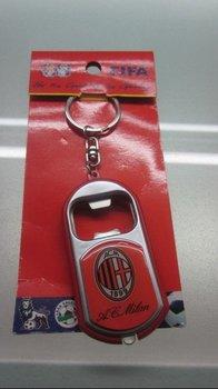 acmilan multipurpose small flashlight / football  fan bottle opener, key chain