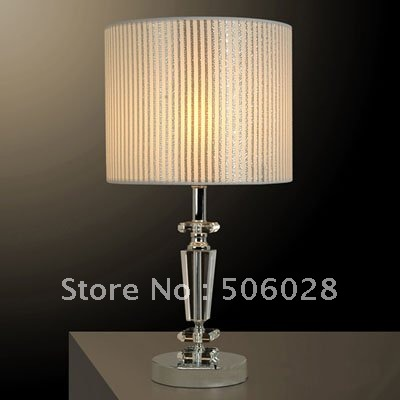 Free Shipping H38cm chrome stainelss steel engrave crystal table lamp wholesale residential bedroom desk lamp