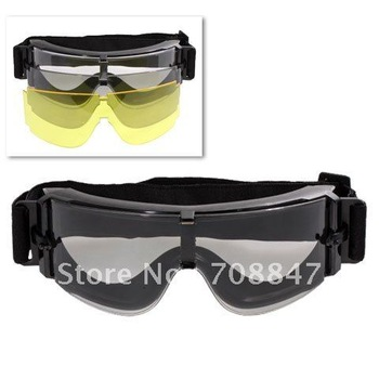 Portable X800 3 in 1 Half Casing Sports spectacles Glasses for Shooting,Cycling,Ski,Golf in Camouflage Box(UV400 Protection Comb