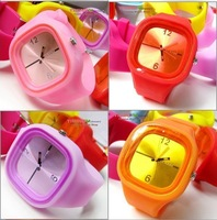DHL free shipping 100 pcs/lot Square Jelly Watch Candy Watch Fashion New Jelly Wrist Watch ODM Jelly Watch ODM Silicone Watch B1