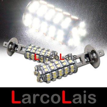 White H1 68 SMD 1210 3528 LED Super Bright Car Fog Headlight Day Running Main Beam Light Bulb Lamp 12V Auto Lights 68LED