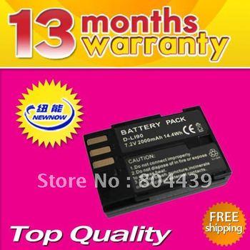 Free shipping 7.2V 2000MAH New Battery pack for  PenTax D-LI90