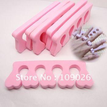 Free Shipping 400 pcs Nail Toe Finger Separator Nail Art Manicure Pedicure tool