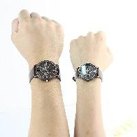 Free shipping Matching his & hers watches Quartz new style /A pair leather watch for lovers brown