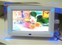 1pc free shipping 7 inch digital photo frame with multi-functions with 4 led light