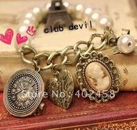 Wholesale 20pcs/lot retro pearl bracelet/fashion jewelry/  free shipping