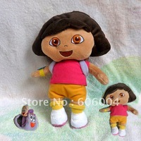 "Free Shipping Dora the Explorer Dora Plush Doll Toy 9"" Good for Xmas Gift Wholesale and Retail"