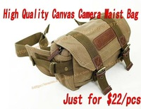 Free Shipping $22pcs DSRL SLR Canvas Camera Waist Bag Case for Canon Nikon Sony NEX Panasonic GF1/2 LX3/5 109009