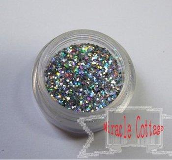 Free shpping! (5packs/lot) best sell 1/40=0.6mm laser silver polycrystalline powder,laser powder,flash powder,glitter powder