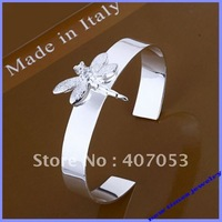 B041 wholesale fashion jewelry 925 silver cuff bracelet bangle dragonfly designs jewellery excellent free shipping