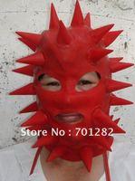 Latex spike mask, hood