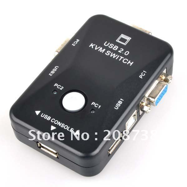 KVM Switch Box USB Mouse Monitor Video SVGA VGA 2 Port(China (Mainland))