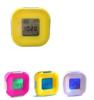 Hot Glowing LED Color Change Digital Alarm Mood Clock with calendar, thermometer