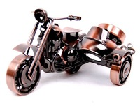 Товары для ручных поделок Wrought Iron art Motor motorcycle model 18x7x12cm Novelty Valentine Gift sculpture Home decoration figurine