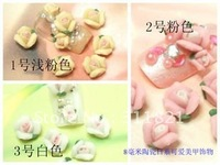On sale 3D Ceramic  flower/nail art /nail decoration + 8 color + 100 pcs /lot  +Free shipping