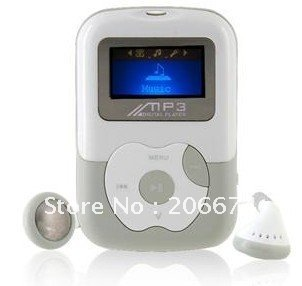 "1.1"" OLED Screen 4G TF Card-insert MP3 Audio Player with Speaker (Color random shipment!),free shipping"