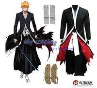 Anime Bleach Cosplay - Bleach Ichigo Kurosaki Men's Bankai Cosplay Costume Freeshipping