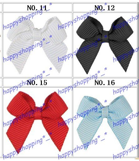 wholesale 1000pcs mix color 2.5&quot; multicolored grosgrain dot ribbon bows fashion gift cute baby hair accessaries,free shipping(China (Mainland))