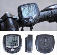 SD-548C 15 Function Black LCD Waterproof Wireless Multifunctional Bicycle Odometer Bike Speedometer Bike Computer Odometer