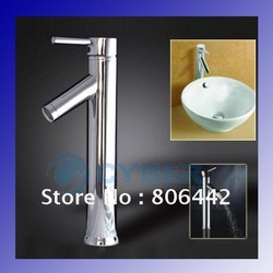 Single Handle Modern Chrome Bathroom Vessel Sink Lavatory Basin Faucet / Mixer Tap Free Shipping(China (Mainland))
