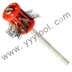 FREE SHIPPING ! Mini Matt Pro-Texturning Brushes , RED color , wire dia : 0.3mm , jewlery making tools , matt wire brushes(China (Mainland))