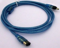 IEEE 1394Cable  Transparent blue 1.5M 4P to 6P Cable