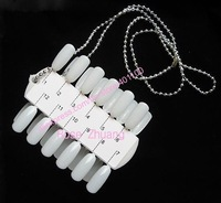 Freeshipping-24 tips nail art display chart with necklace Nail Polish Display Wholesales SKU:F0038XX