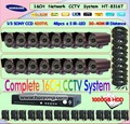 16 channel Network CCTV Camera Systems HT-8316T Surveillance Kit 100gb HDD