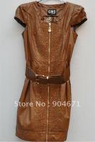 #13 Women's fashion leather dress
