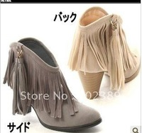 2011 autumn and winter high-heeled boots fringed new trend of European and American casual boots shoes Roman Martin Wind