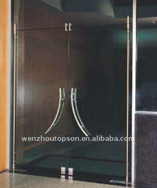 High grade 304SUS Glass pivot door+Full set hardware(China (Mainland))