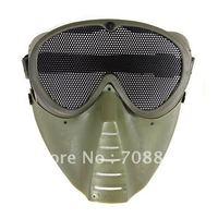 Air Soft Face Guard Mesh Tactical Mask Goggles (ST04-2) - Green