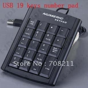 Mini USB 19 keys Number Pad Numeric Keypad Keyboard for PC Laptop Notebook,USB Hidden keypad banking,accounting/Free shipping