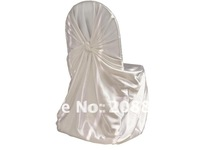 White satin universal chair cover for wedding...
