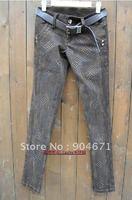 #86 Korean casual skinny jeans pencil pants