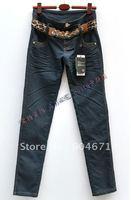 #95 Korean leisure skinny jeans double waist waist pencil pants