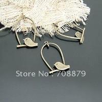 300pcs Bird /Jewelry bracelet metal alloy Charm Bead Finding 29 x 18mm Dollhouse Miniature Wholesale