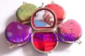 Free shipping! Lots 20 pcs homemade Embroidery Brocade Mirror Jewelry box ring case Makeup mirror