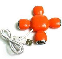 Free shipping 10pcs/lot small stool shape high speed portable USB 2.0 and 4 port HUB