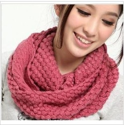 10 COLORS WOMEN'S KNIT WINTER CORN SCARVE/NECK WARMER,Christmas gift 130a10(China (Mainland))